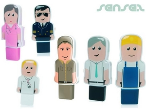 Mini Professionals in Uniformen USB Stick People