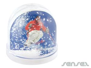 Photo Insert Snow Domes (Printed)