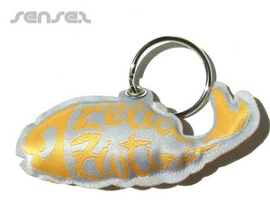 Shaped Fabric Puff Key Chains