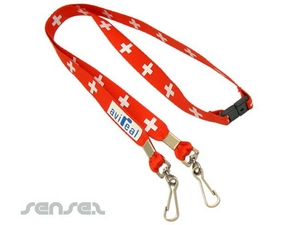 Double Hook Conference Lanyards