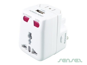 Universal Adaptors With USB Charger