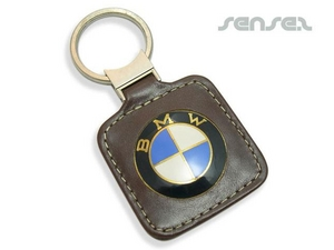 Leather Enamel Tag Key Chains