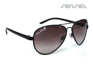 Aviator Sunglasses (With Leather Trim)