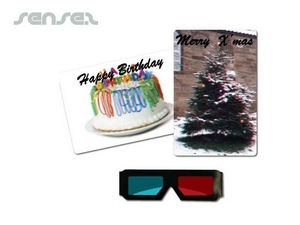 3D postcard and Glasses Set