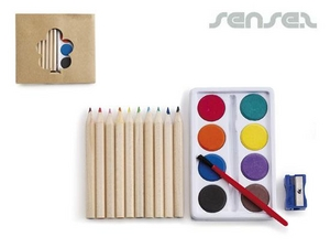 Paint Sets with Coloured Pencils