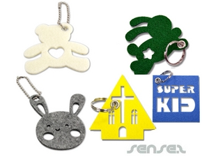 Custom Shaped Felt Key Rings
