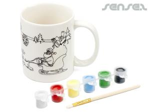 Paint Your Own Christmas Mugs