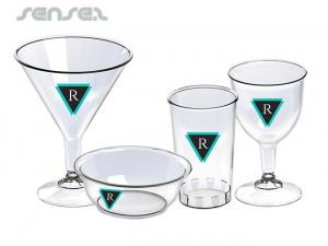 Branded Plastic Wine Glasses
