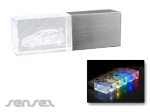 LED Glasblock USB Sticks (4GB)