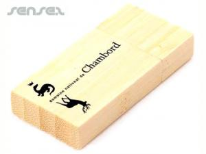 Rectangular Wooden USB Sticks (2GB)