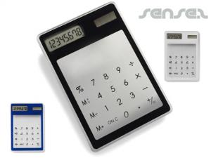 Transparent Touch Screen Calculators