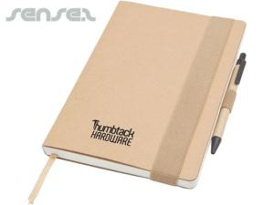 Recycling-Notebook mit Pen-Set (A5)