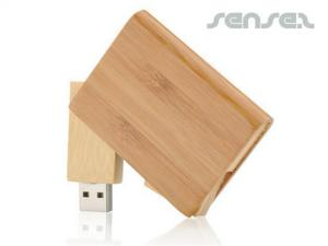 Wooden Swivel USB Sticks (2GB)