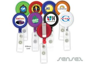 Round Retractable Badge Holders