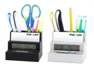 Desk Caddy Business Card Clocks