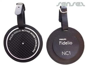 Round Leather Luggage Tags