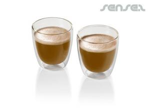 2pcs Double Walled Coffee Glass Sets (200ml)