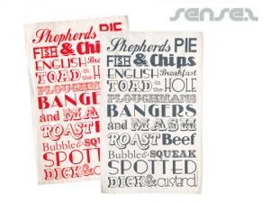 Custom  Printed Tea Towels (cotton)