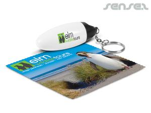 Keyrings with Microfibre Cloths