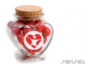 Heart Candy Jars 80g