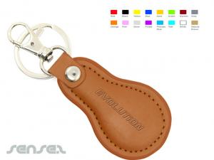 Pear Leather Keyrings