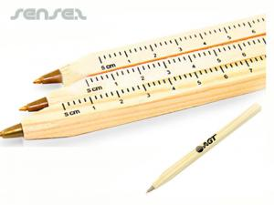 Wooden Ballpoint Pen Rulers