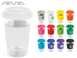 Oasis Walled Glass Coffee Cups (350ml)