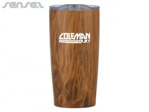 Eco Wood Large Double Walled Thermo Cups (650ml)