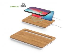 Bamboo Wireless Chargers With Phone Holder (1000mAh)