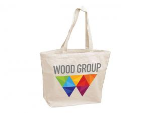 Full Colour Printed Calico Canvas Bags With Gusset (340gsm)