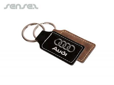 Exec Leatherette Key Tags | Promotional Fabric Keyrings