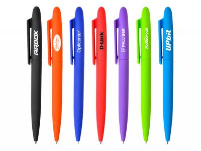 Neon Rubber Twist Pens