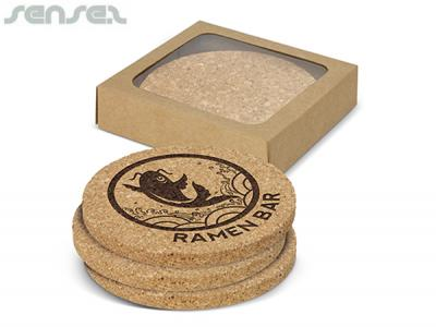 Cork Coaster Sets Round