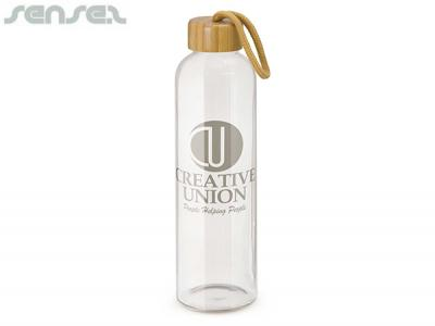 Pure Bamboo Glass Drink Bottles (600ml)