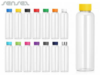 Pop Colour Glass Drink Bottles (600ml)