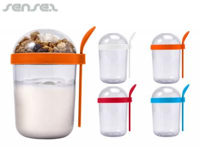 Healthy Plastic Breakfast Snack Cups (530ml)