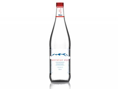 Sparkling or Still Mineral Water Glass Bottles (750ml)