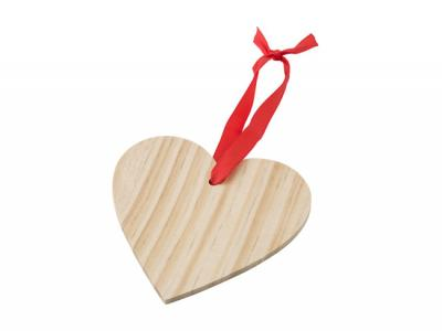 Wooden Heart Shaped Ornaments
