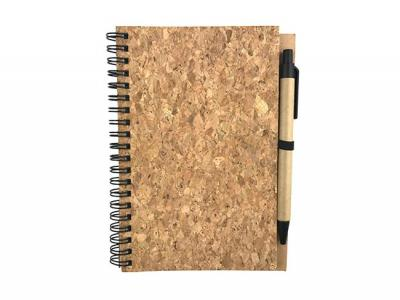 Eco Cork Cover Notebooks With Pen