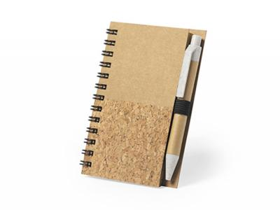 Recycled Cardboard & Cork Notebooks With Pen (A7)
