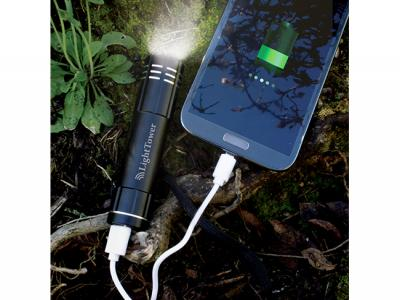 Aluminium Torches With Power Banks (2200 mAh)