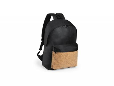 Black Eco Cork Backpacks (600D)