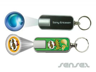 Rectangular Projector Torch Key Chains