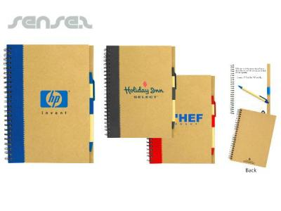 Recycled Notebooks with Pens Lrg