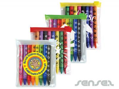 Colour Crayons in Pouches