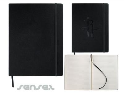 Leather Style Black Notebook (A4)