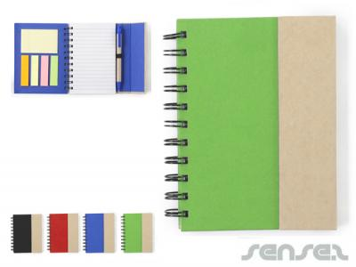Spirielli Note Books with Sticky Notes