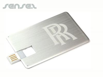 Flat Metal USB Cards (2GB)