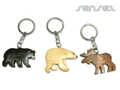 Wooden Carved Animal Keyrings